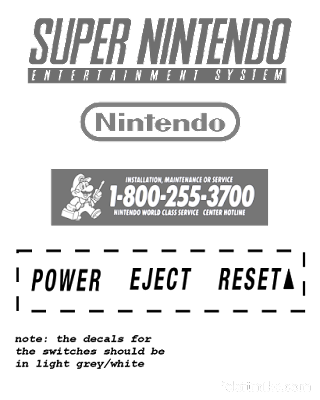 North American SNES Decals