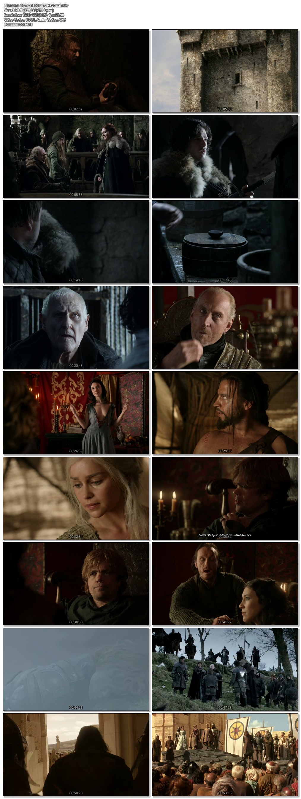 Screenshots Of Hindi Dubbed Show Game Of Thrones 2011 Season 01 Episode 09 300MB 720P HD