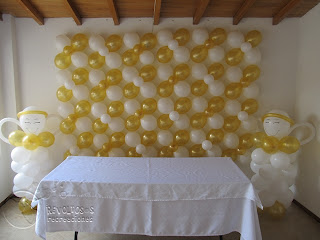 DECORACION PRIMERA COMUNION ANGELES
