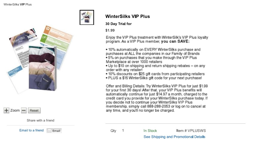 b12c7b883 Elsewhere in the site, it is clear that Wintersilks is affiliated with  Blair.com, and sure enough, Blair.com offers a similar VIP-plus option, ...