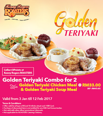 KRR Card Golden Teriyaki Combo Discount Promo