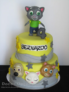 Bolo de aniversário Talking Tom Gold Run