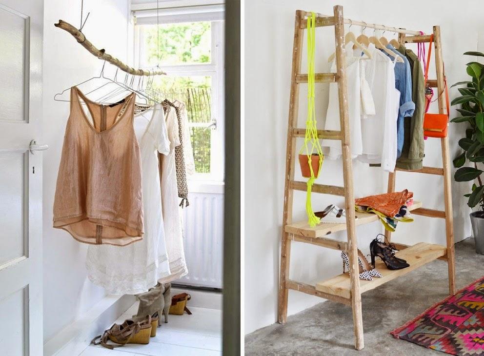 Dos ideas para colgar la ropa.......