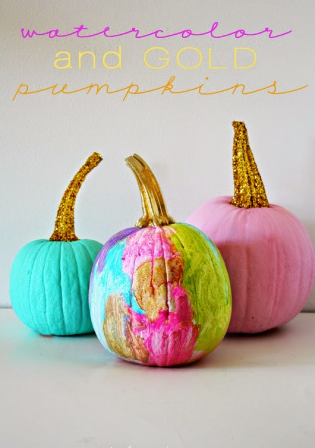 Colour pumpkins DIY Halloween cute decoration