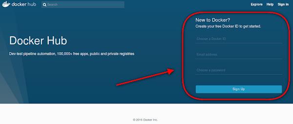 Criar conta no Docker HUB