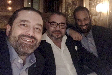 الصورة الحدث… الملك وإبن سلمان والحريري