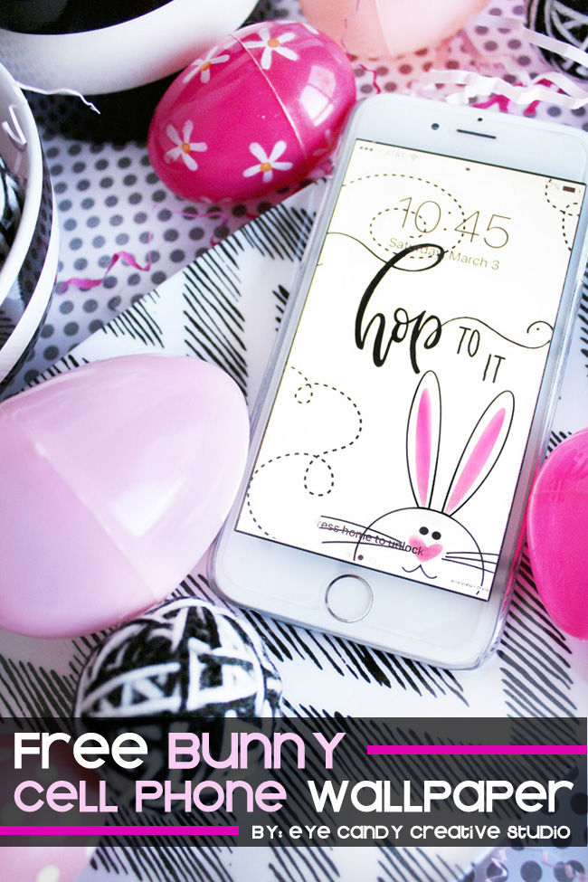 hop to it, easter cell phone background, hand leterring, free easter art