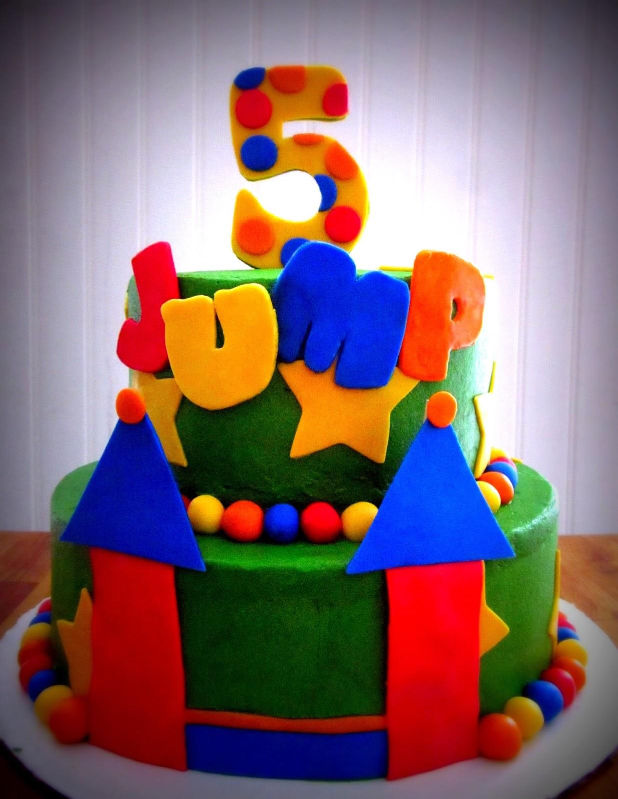 Bounce House Birthday Cake