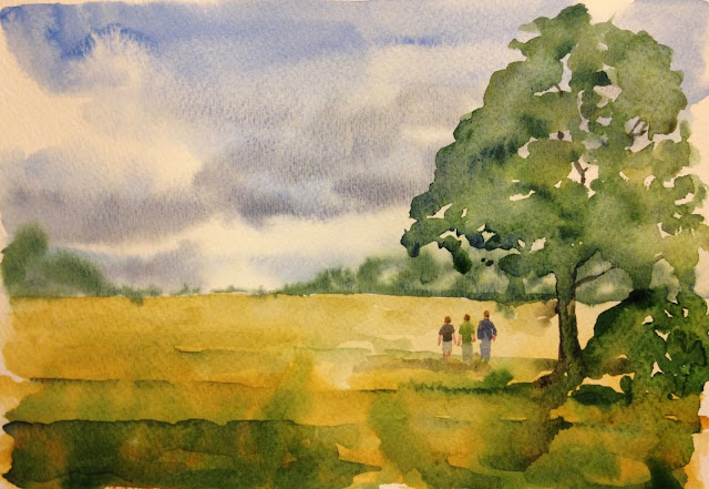 Sunday, 19th August 2018 - Tramping with Tony, Watercolour Painting