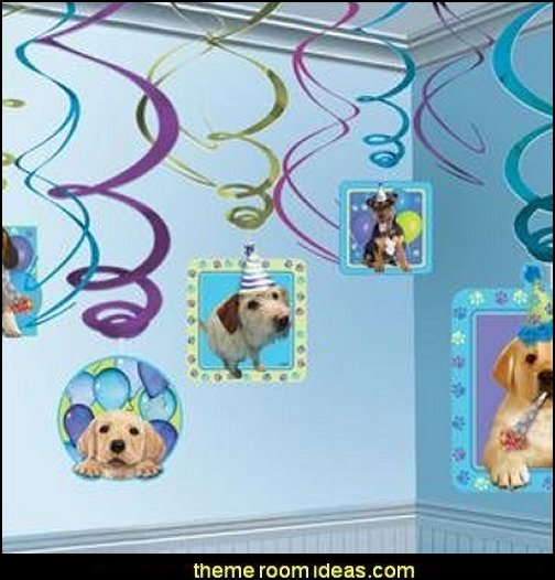 Party Pups Swirls Decorations