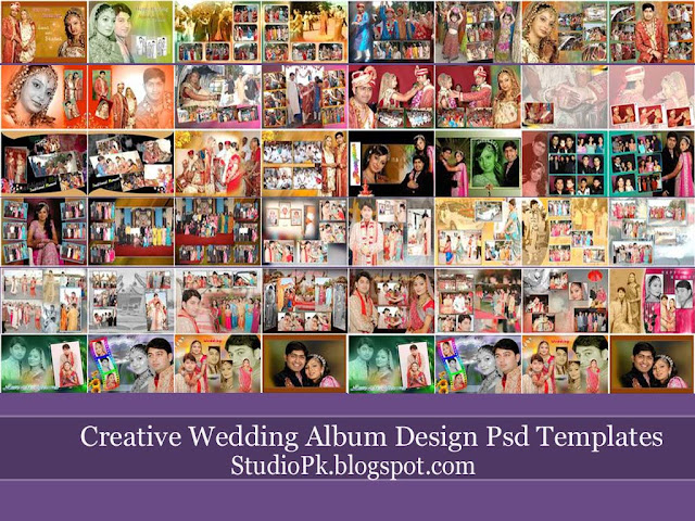 Wedding Album Design Templates PSD
