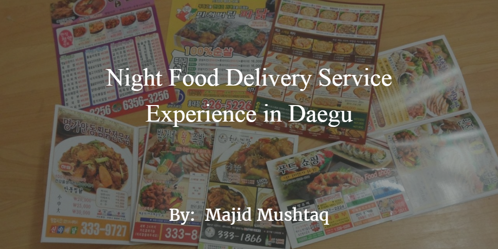 Korean Night Food Delivery Service Experience - How To Order