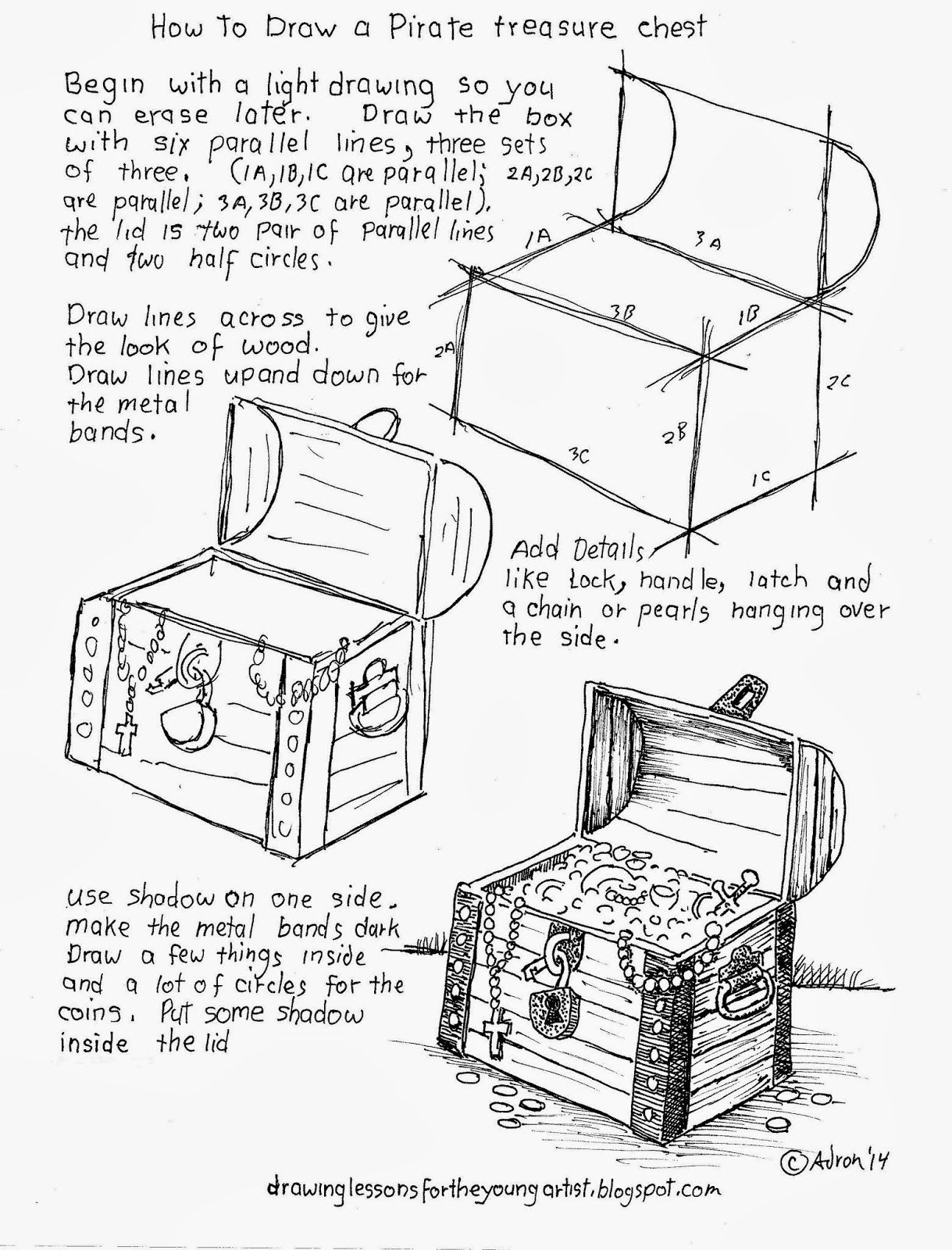 How to Draw Worksheets for The Young Artist: January 2014