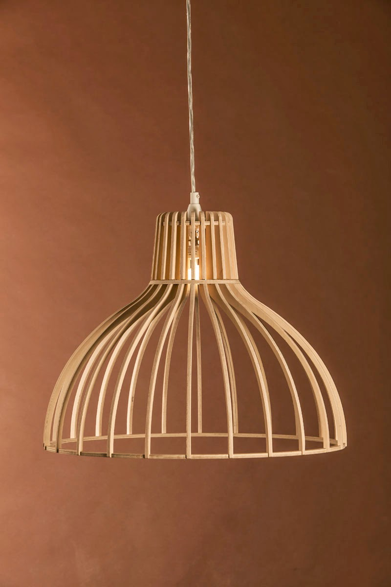 Wood & Bamboo Pendant Lights 24