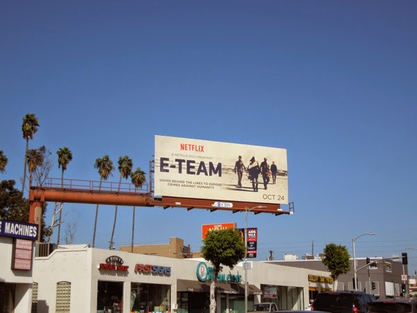 E-Team Netflix documentary billboard