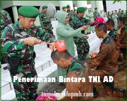 Seleksi Penerimaan Calon Bintara Prajurit Karier Tentara Nasional Indonesia AD Penerimaan Bintara Tentara Nasional Indonesia AD 2019-2020