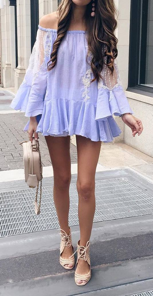 stylish outfit idea: bag + dress