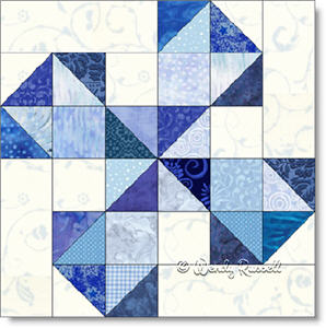Oklahoma Twister quilt block image © Wendy Russell