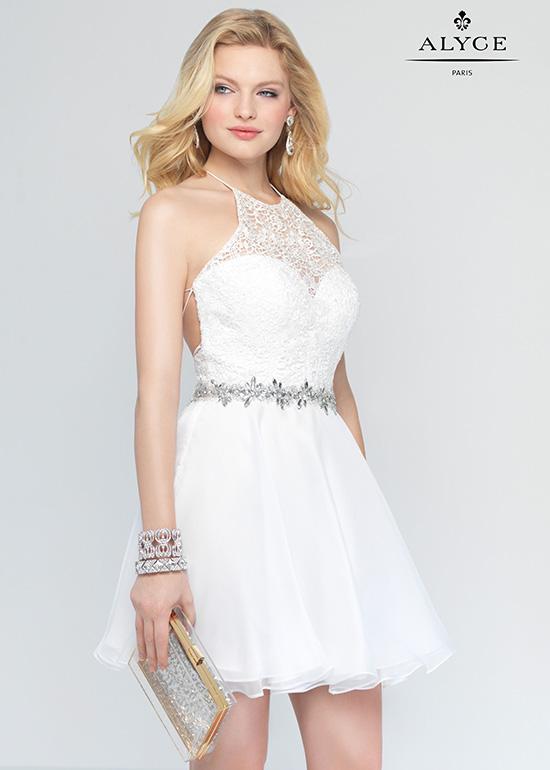 White Chiffon Short Homecoming Dress