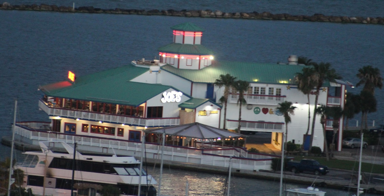Above Joe S Crab Shack The Former Lighthouse Restaurant Corpus Christi Marina 20 June 2016