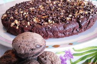 Torta al cioccolato con Ricotta e Noci