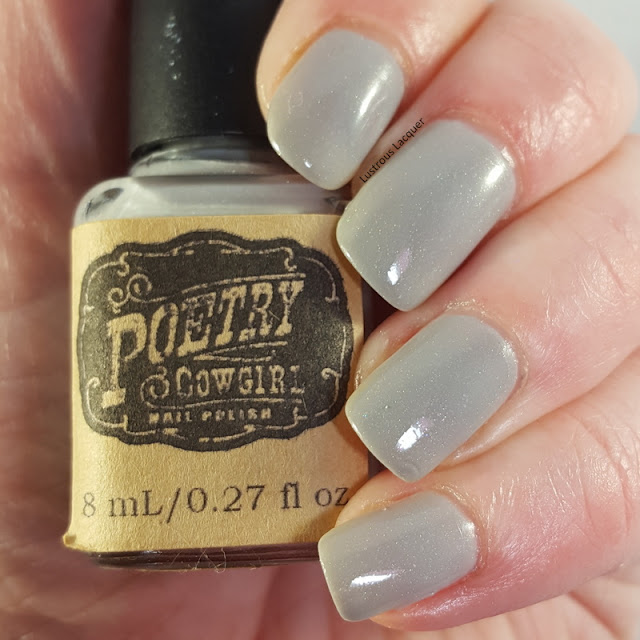Cement grey scattered holographic nail polish