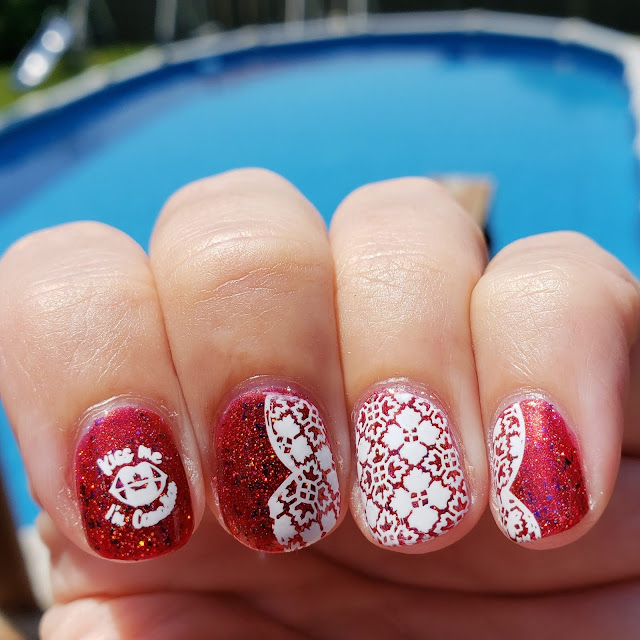 canada, canada day, canada day nails
