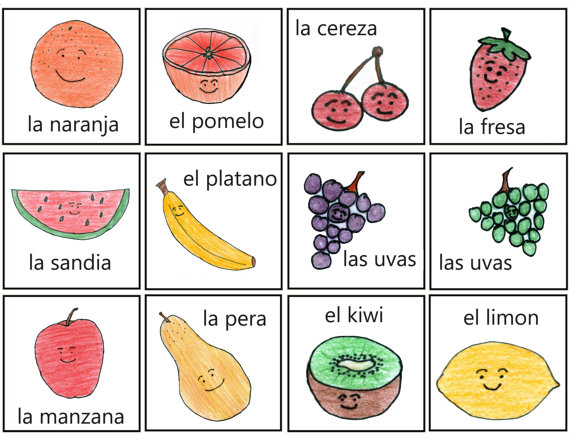 names of fruits in spanish