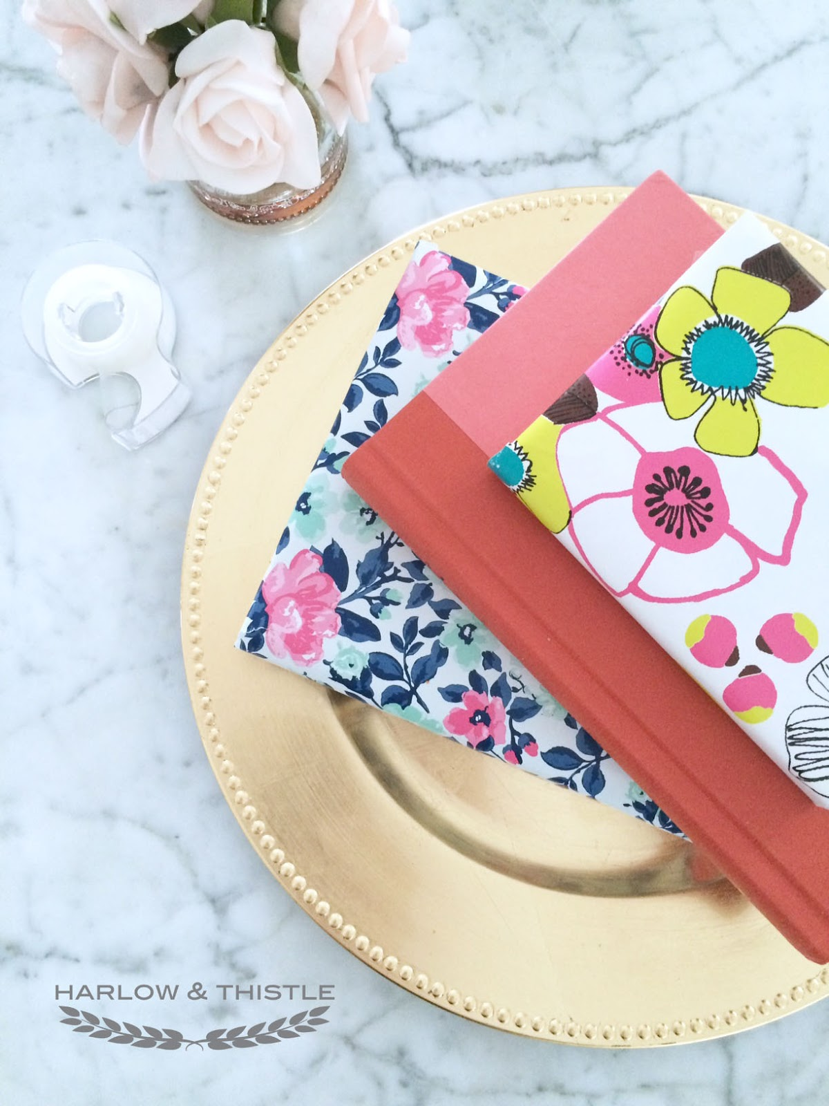 Diy Book Cover Paper Bag : Diy wrapping paper book cover harlow thistle home