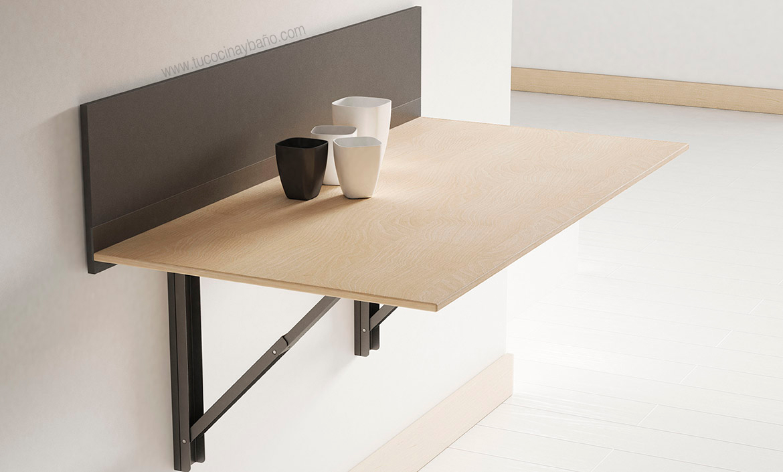 mesa cocina pared escuadras