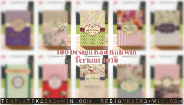 100 Design Kad Kahwin Terkini 2016