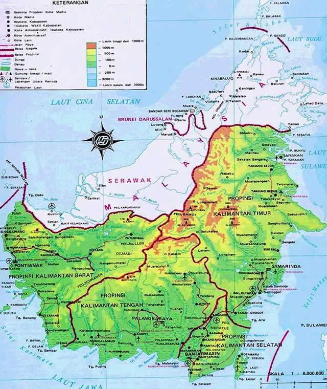 Peta Pulau Kalimantan Provinsi Sumatera