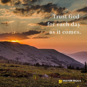 Trust Jesus for One Day at a Time by Rick Warren