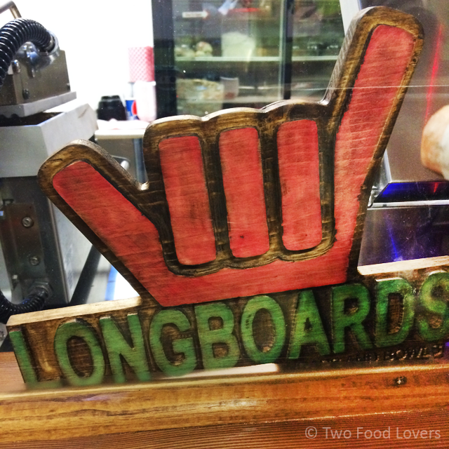 Longboards hang loose sign