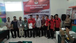 PDI-P Lakukan Pendaftaran Bacaleg ke KPUD Manado . Ini Daftar nama Caleg dari Partai PDI-P