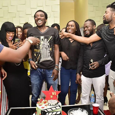 See more photos from Comedian Bovi's surprise birthday party from his wife, Kris Asimonye