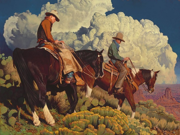 "by Mark Maggiori, ""West of the Rio Grande"" - oil 
