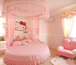 Gambar Kamar Hello Kitty Warna Pink 11