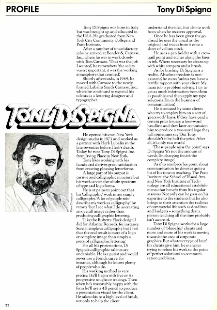 Tenth Letter of the Alphabet: Creator: Tony Di Spigna