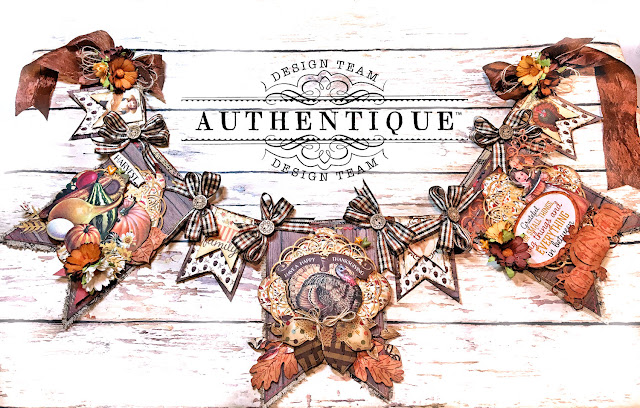 Authentique Pleasant Thanksgiving Banner Tutorial by Kathy Clement Photo 01
