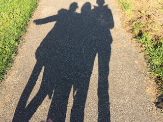 10/20/16 Sweet and playful photo Look how long our shadows are