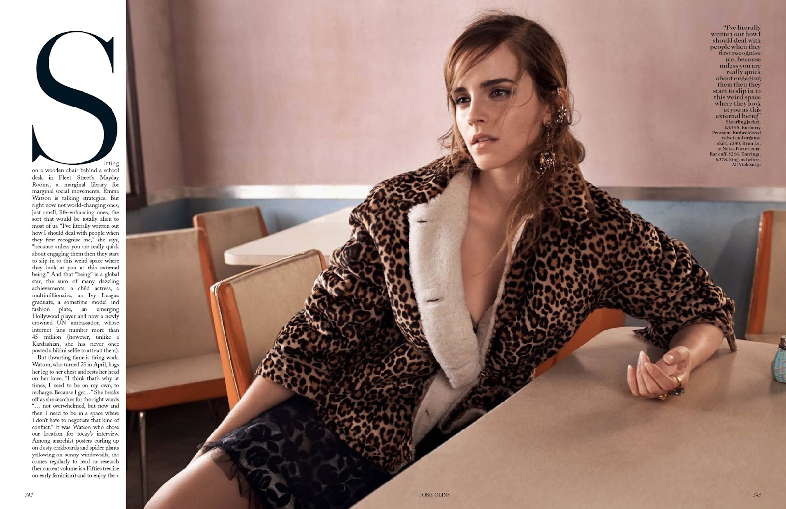 Emma Watsons Personal Parts: Emma Watson Updates: Emma Watson Covers Vogue UK