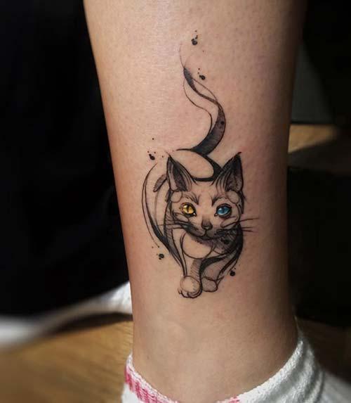cat tatoos tumblr kedi dövmeleri