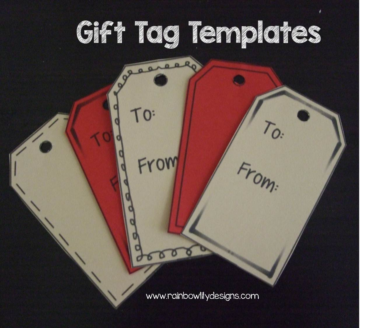 rainbow lily designs gift tag templates