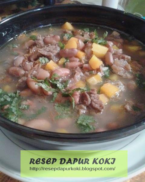 sup kacang merah, resep sup kacang merah, cara membuat sup kacang merah