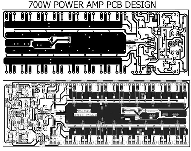 700W pcb power amplifier