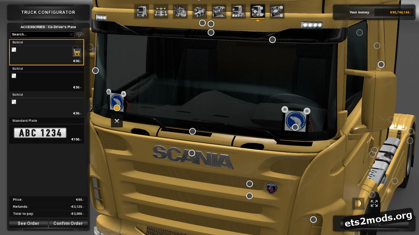 Scania RJL Plates