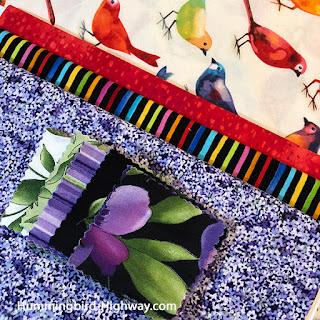purple fabric combination