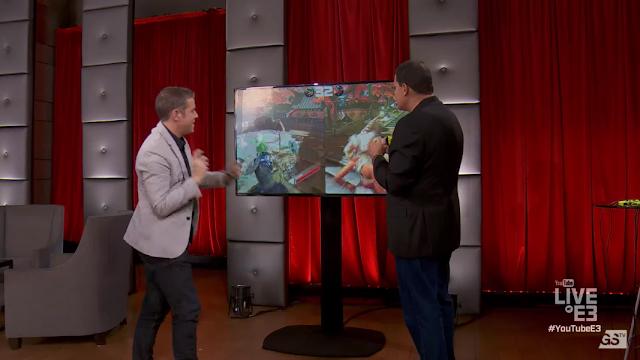 Reggie Fils-Aime Geoff Keighley ARMS Ninjara Twintelle Live @ E3 YouTube 2017