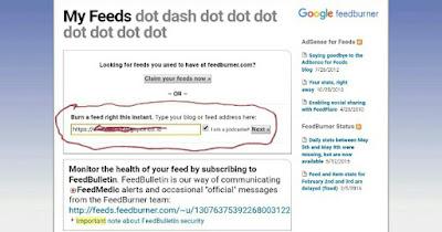 Cara Mendaftarkan Blog Pada Google FeedBurner